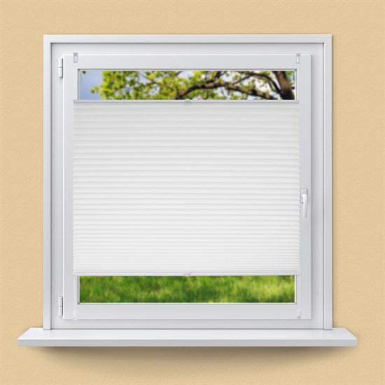 Plissee weiß, 75x150 cm, inkl. Befestigungsmaterial