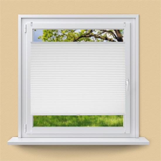 Plissee Weiß, 70x100 cm, inkl. Befestigungsmaterial