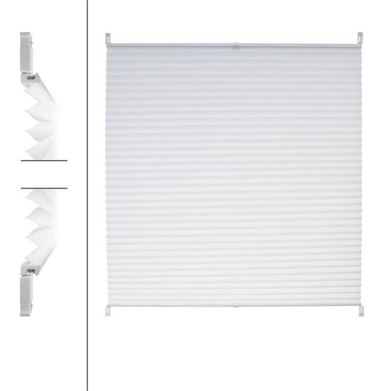 Plissee Weiß 80 x 100 cm