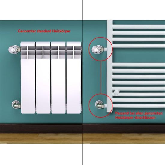 Renovierungsheizkörper Austausch 600 x 1800 mm Weiß gerade mit Seitenanschluss