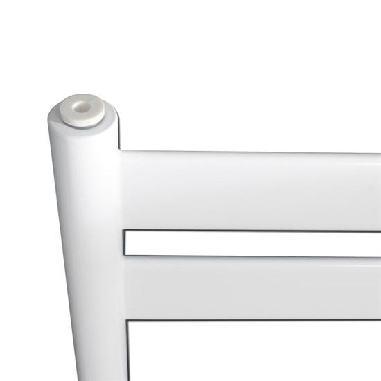 """Design-Heizkörper """"Tharr"""" gerade mit Außenanschluss Weiß 500 x 950 mm"""