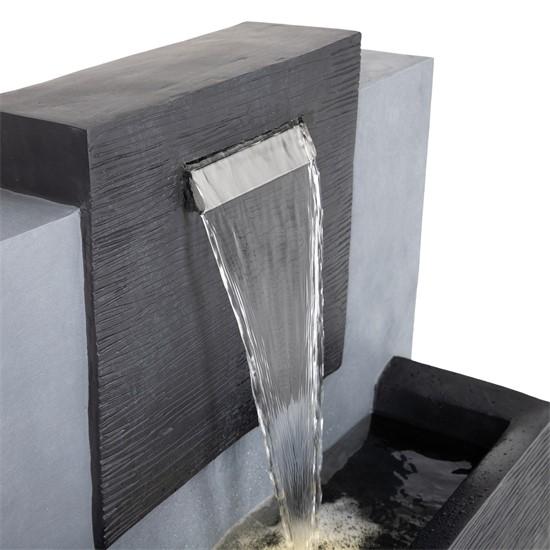 WOMO-DESIGN Springbrunnen anthrazit, 80x39x35 cm, mit LED Beleuchtung und Pumpe, aus glasfaserverstärktem Kunstharz