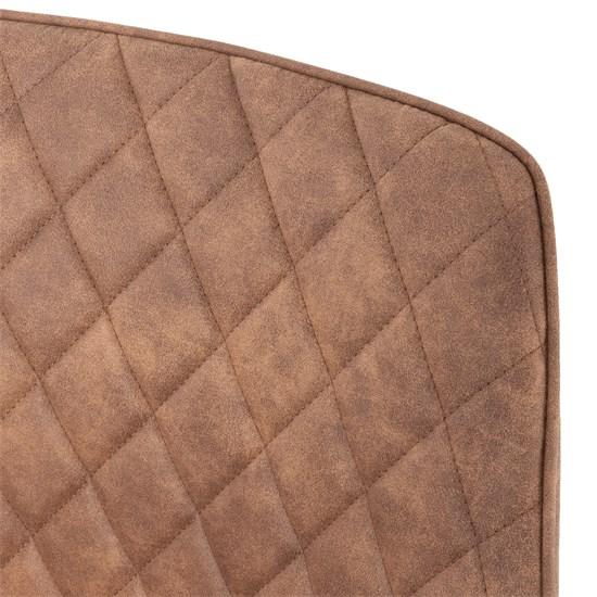 WOMO-DESIGN 2er Set Esszimmerstühle mocca, mit Rucken- und Armlehnen, aus Samt mit Metallbeine