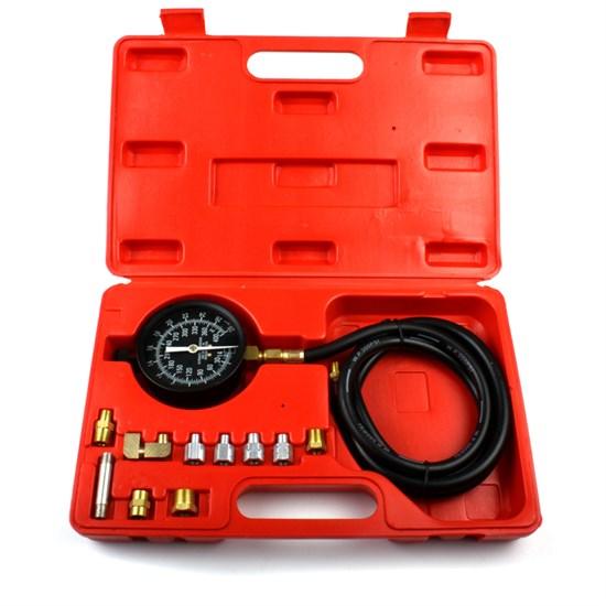 Öldruckmesser Set 13 Teilig 0-28 bar im Kunststoffkoffer