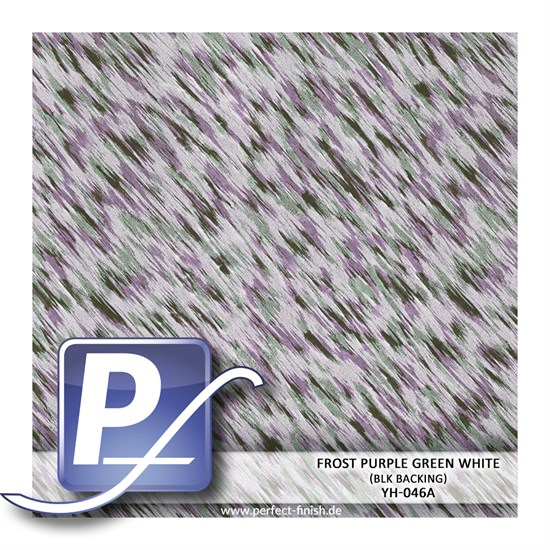 Wassertransferdruck Film YH-046A | 50cm FROST PURPLE GREEN WHITE