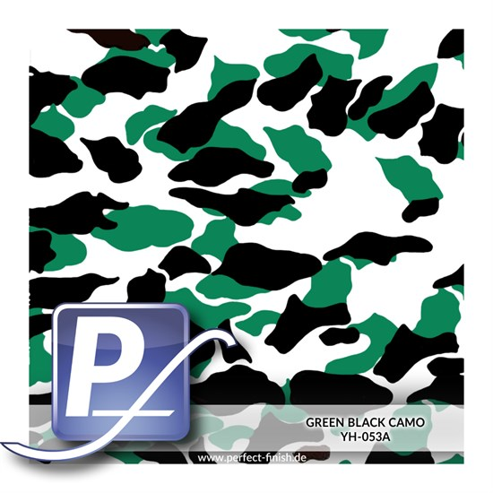 Wassertransferdruck Film YH-053A | 60cm GREEN BLACK CAMO