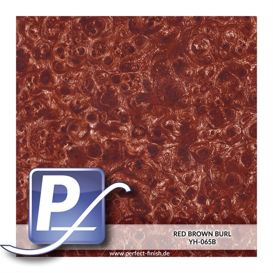 Wassertransferdruck Film YH-065B | 50cm RED BROWN BURL