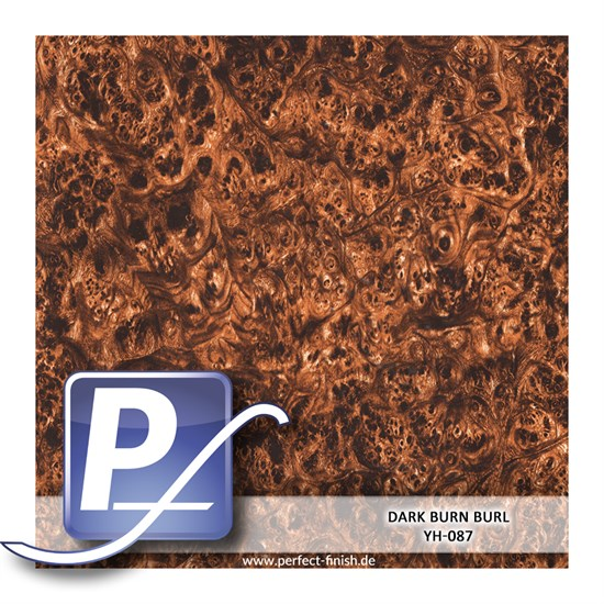 Wassertransferdruck Film YH-087 | 60cm DARK BURN BURL