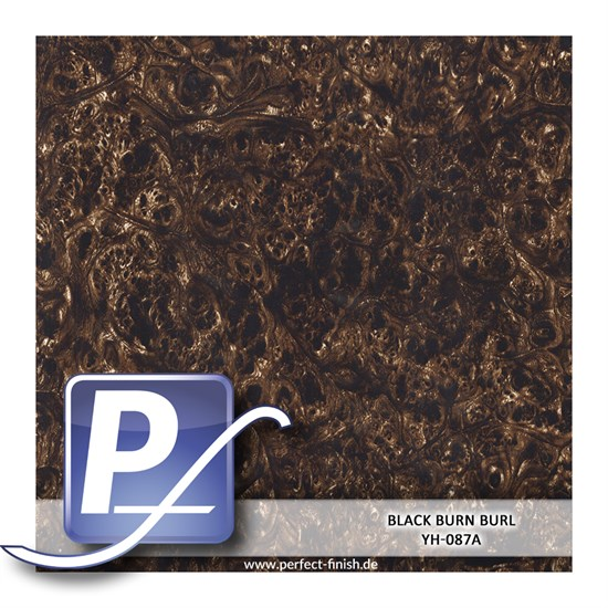 Wassertransferdruck Film YH-087A | 60cm BLACK BURN BURL