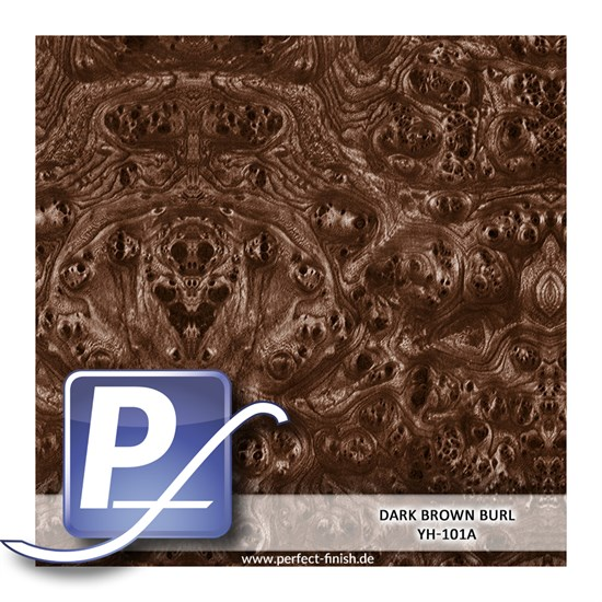 Wassertransferdruck Film YH-101A | 50cm DARK BROWN BURL