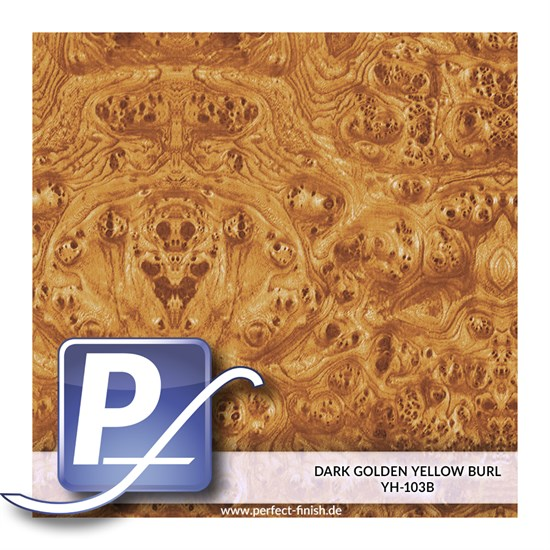 Wassertransferdruck Film YH-103B | 50cm DARK GOLDEN YELLOW BURL