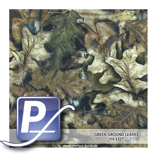 Wassertransferdruck Film YH-132T | 60cm GREEN GROUND LEAVES