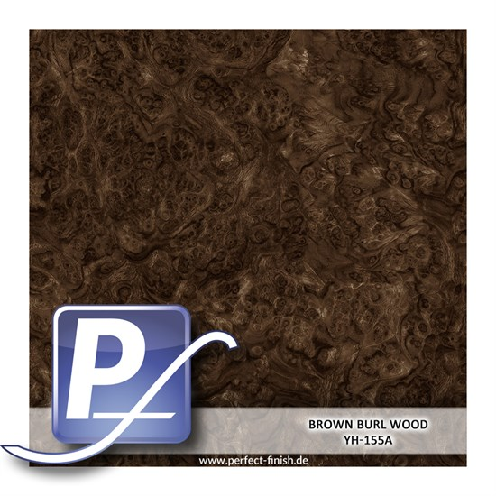 Wassertransferdruck Film YH-155A | 60cm BROWN BURL WOOD
