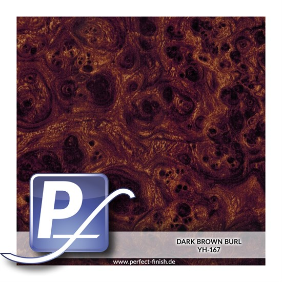 Wassertransferdruck Film YH-167 | 50cm DARK BROWN BURL