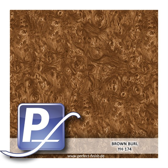 Wassertransferdruck Film YH-174 | 60cm BROWN BURL