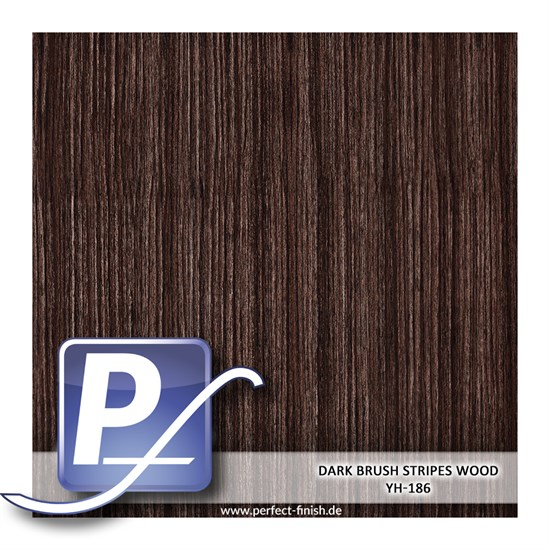 Wassertransferdruck Film YH-186 | 60cm DARK BRUSH STRIPES WOOD