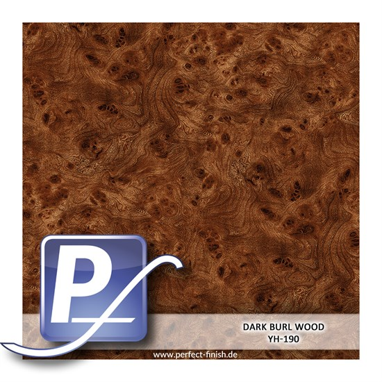 Wassertransferdruck Film YH-190 | 50cm DARK BURL WOOD