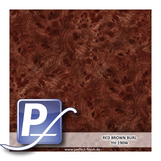 Wassertransferdruck Film YH-190W | 50cm RED BROWN BURL