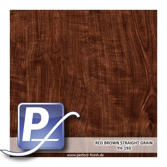 Wassertransferdruck Film YH-193 | 60cm RED BROWN STRAIGHT GRAIN