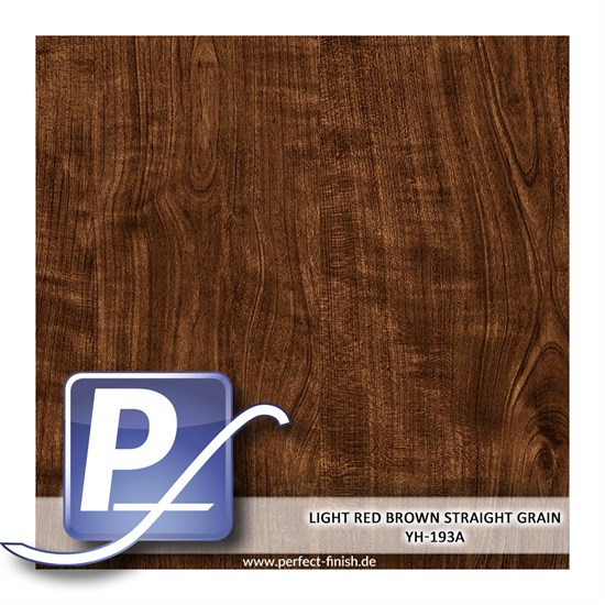 Wassertransferdruck Film YH-193A | 60cm LIGHT RED BROWN STRAIGHT GRAIN