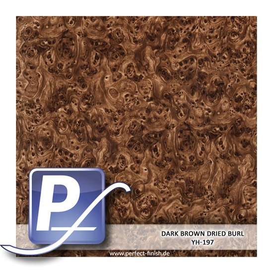 Wassertransferdruck Film YH-197 | 60cm DARK BROWN DRIED BURL