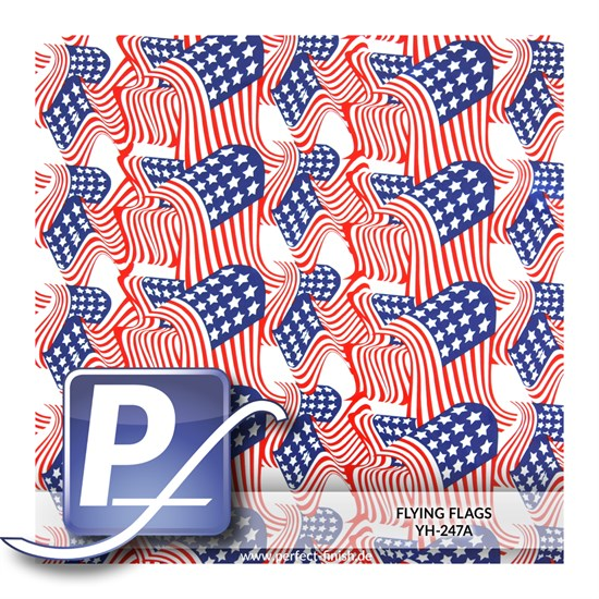 Wassertransferdruck Film YH-247A | 60cm FLYING FLAGS