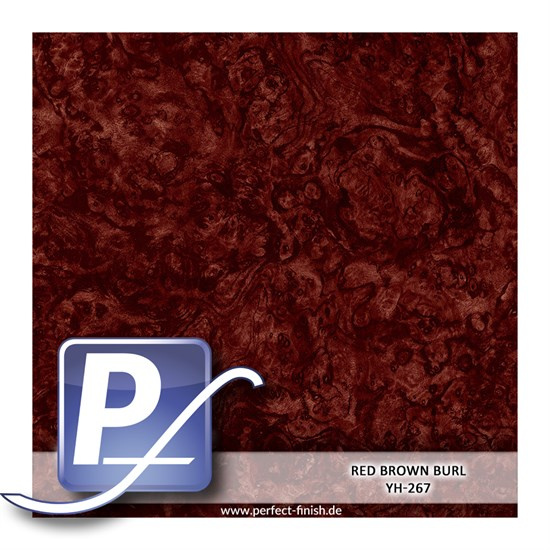 Wassertransferdruck Film YH-267 | 50cm RED BROWN BURL