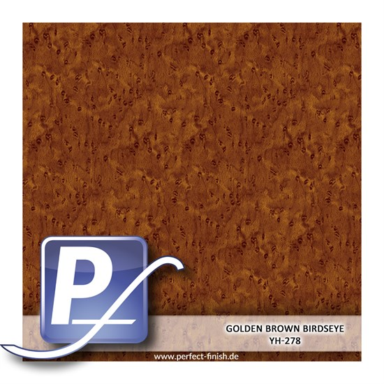 Wassertransferdruck Film YH-278 | 50cm GOLDEN BROWN BIRDSEYE