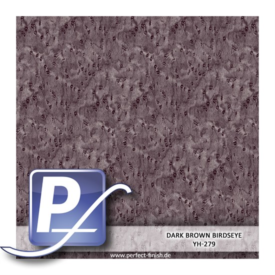 Wassertransferdruck Film YH-279 | 50cm DARK BROWN BIRDSEYE