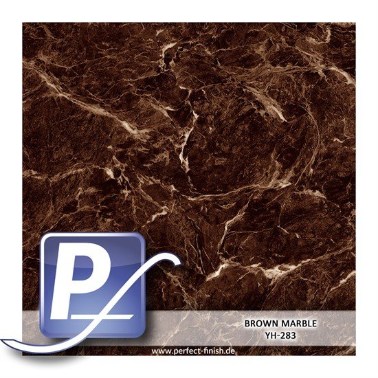 Wassertransferdruck Film YH-283 | 60cm BROWN MARBLE