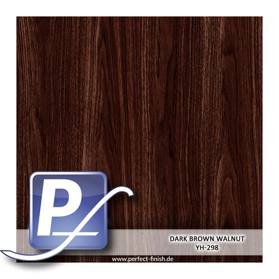 Wassertransferdruck Film YH-298 | 50cm DARK BROWN WALNUT