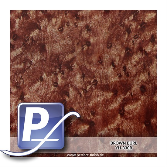 Wassertransferdruck Film YH-330B | 50cm BROWN BURL