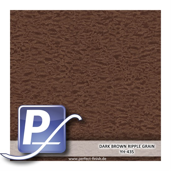 Wassertransferdruck Film YH-435 | 60cm DARK BROWN RIPPLE GRAIN