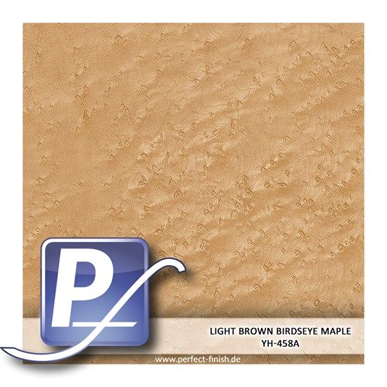 Wassertransferdruck Film YH-458A | 100cm LIGHT BROWN BIRDSEYE MAPLE
