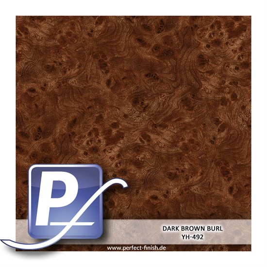 Wassertransferdruck Film YH-492 | 60cm DARK BROWN BURL