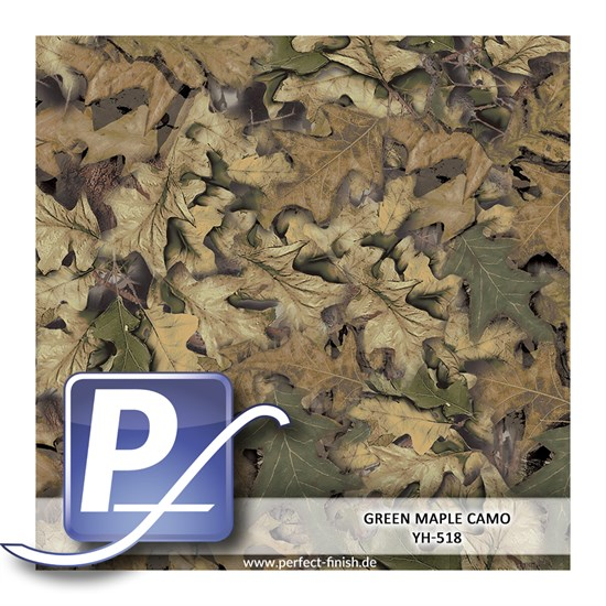 Wassertransferdruck Film YH-518 | 100cm GREEN MAPLE CAMO