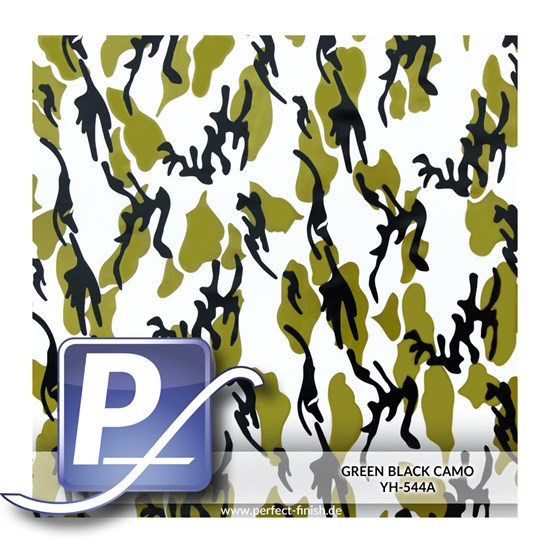 Wassertransferdruck Film YH-544A | 60cm GREEN BLACK CAMO