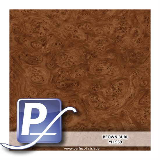 Wassertransferdruck Film YH-559 | 60cm BROWN BURL