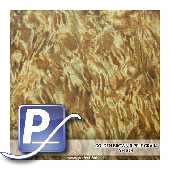 Wassertransferdruck Film YH-594 | 60cm GOLDEN BROWN RIPPLE GRAIN