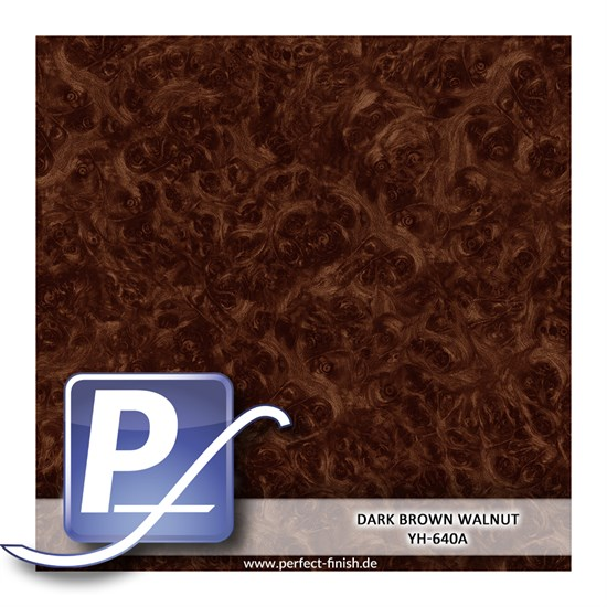 Wassertransferdruck Film YH-640A | 60cm DARK BROWN WALNUT