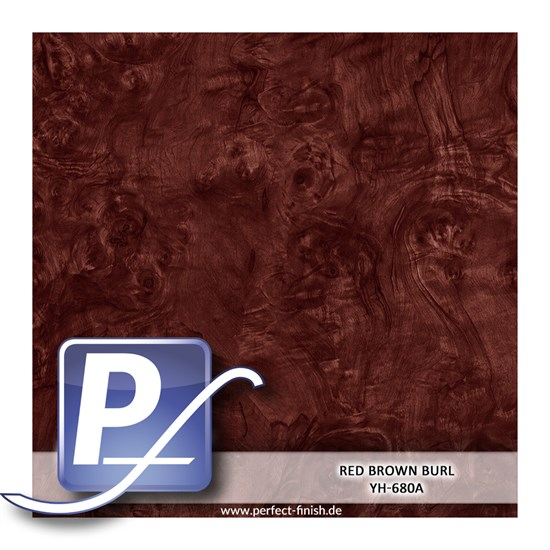 Wassertransferdruck Film YH-680A | 50cm RED BROWN BURL