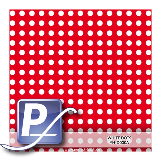 Wassertransferdruck Film YH-D030A | 60cm WHITE DOTS