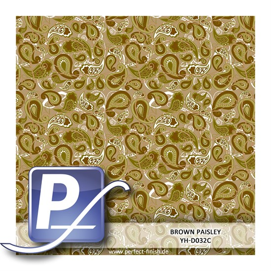 Wassertransferdruck Film YH-D032C | 60cm BROWN PAISLEY