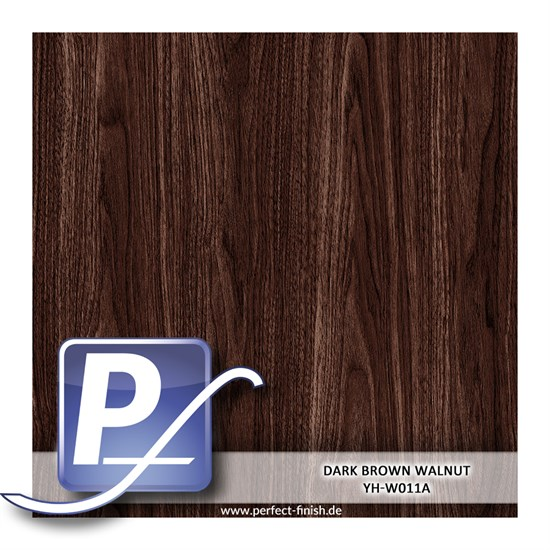 Wassertransferdruck Film YH-W011A | 100cm DARK BROWN WALNUT