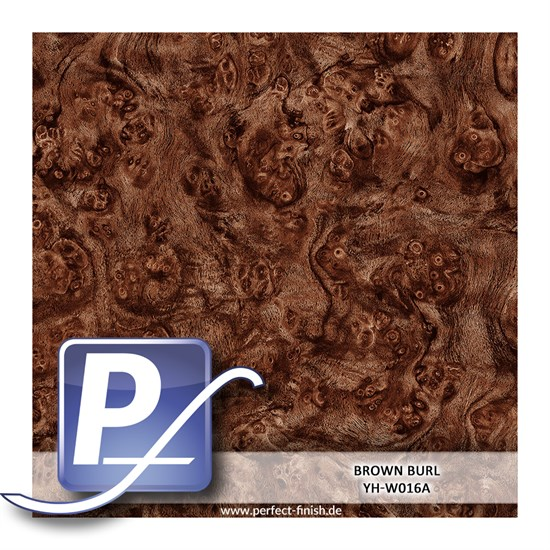 Wassertransferdruck Film YH-W016A | 100cm BROWN BURL