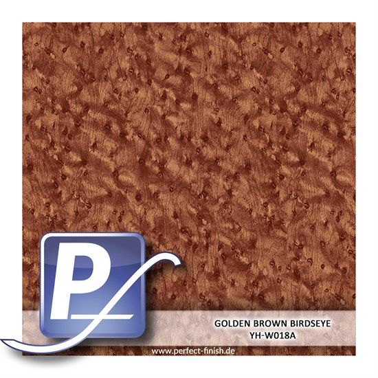 Wassertransferdruck Film YH-W018A | 60cm GOLDEN BROWN BIRDSEYE