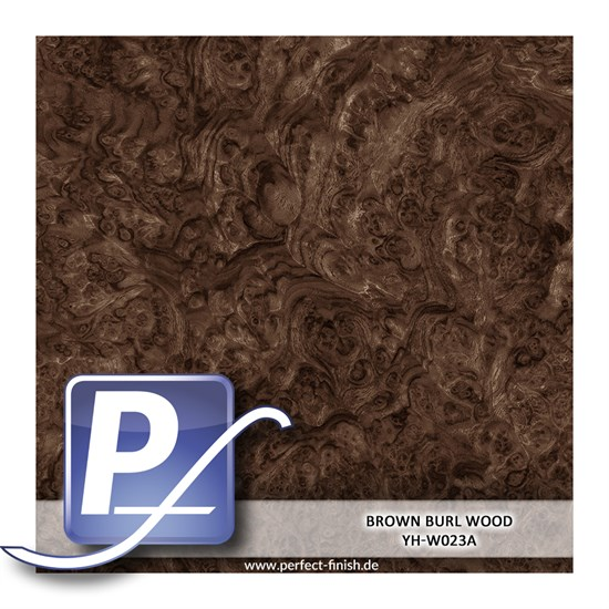 Wassertransferdruck Film YH-W023A | 100cm BROWN BURL WOOD