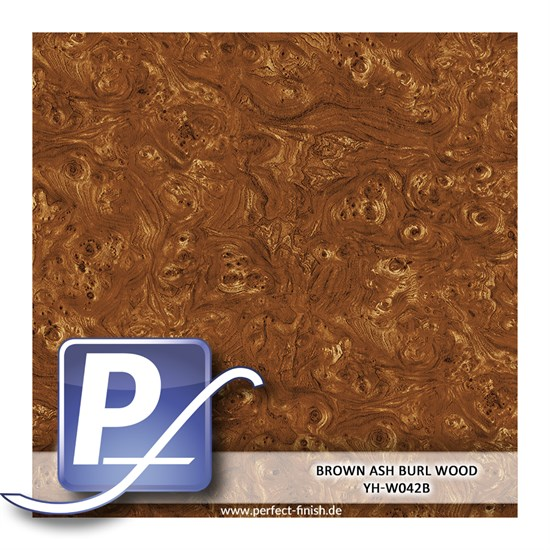 Wassertransferdruck Film YH-W042B | 50cm BROWN ASH BURL WOOD