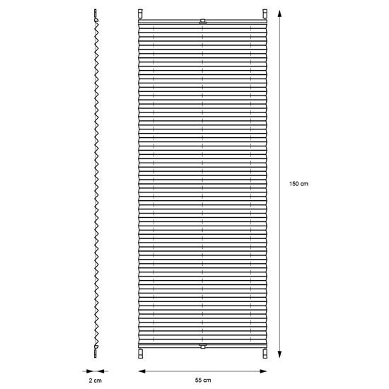 Plissee bordeaux, 55x150 cm, inkl. Befestigungsmaterial