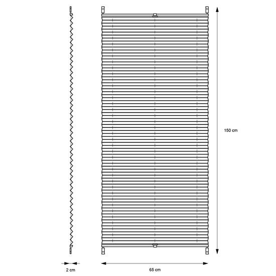 Plissee Creme, 65x150 cm, inkl. Befestigungsmaterial